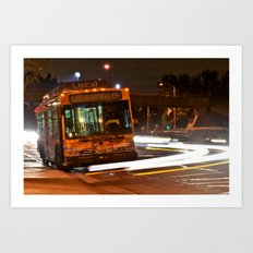 Late Night Bus Ride Art Print