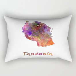 Tanzania  in watercolor Rectangular Pillow