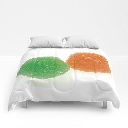 Orange and Green Gumdrops  Comforters