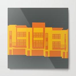 Modern Townhomes Metal Print