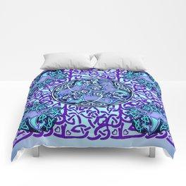7 Blue Celtic Horses Comforters