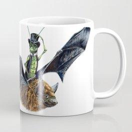 """ Rider in the Night "" happy cricket rides his pet bat Coffee Mug"