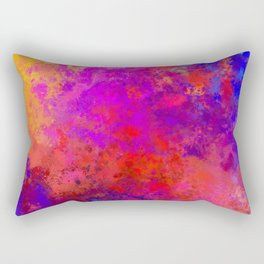 Colorful Splatter Rectangular Pillow