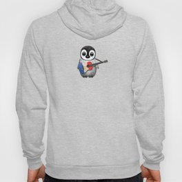 Baby Penguin Playing French Flag Guitar Hoody