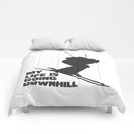 ski snow winter gift skiing winter sports skier Comforters
