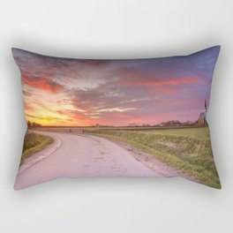 Church of Den Hoorn on Texel island in The Netherlands Rectangular Pillow