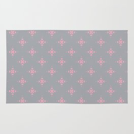 Ornamental Pattern with Grey and Pink Colourway Rug