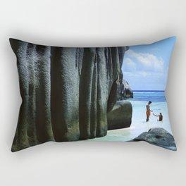 Seychelles Islands: La Digue Rectangular Pillow
