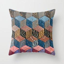 Tumbling Blocks #3 Throw Pillow