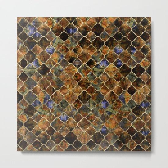 Quatrefoil Moroccan Pattern Brown Labradorite by k9printart