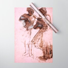 Edgar Degas - Two dancers (new color editing) Wrapping Paper