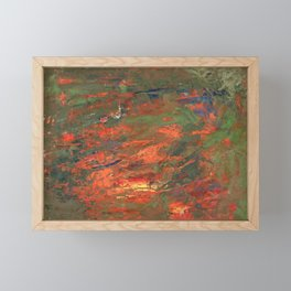 Lava and Green Framed Mini Art Print