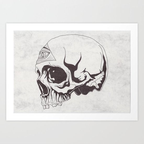 I've got an eye on you Art Print