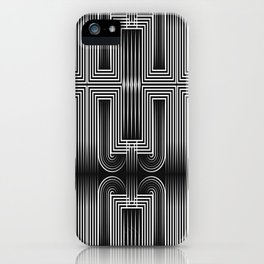Art Deco 32 . Graffiti black and white iPhone Case