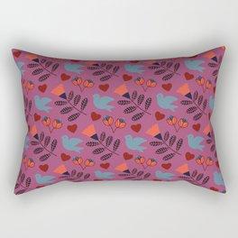 Norwegian Folk Pattern Rectangular Pillow