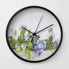 forget-me-not Wall Clock