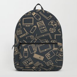 Video Games Pattern   Gaming Console Computer Play Backpack