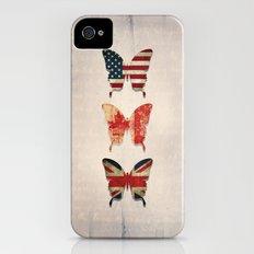 flag butterflies iPhone (4, 4s) Slim Case