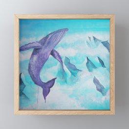 Sky Whale Framed Mini Art Print