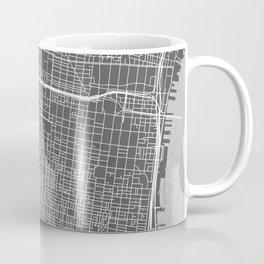 Center City Philadelphia Map Coffee Mug