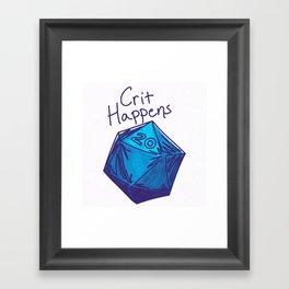 Crit Happens D20  Framed Art Print