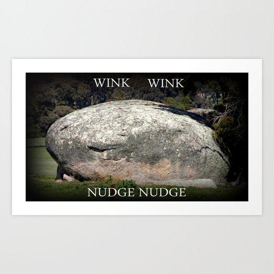 Happy Rock Art Print
