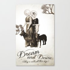 dream and desire -taking a walk with their dogs Canvas Print
