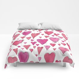 Watercolor My Heart (Large) by Deirdre J Designs Comforters