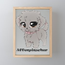 Affenpinscher Cuteness Framed Mini Art Print