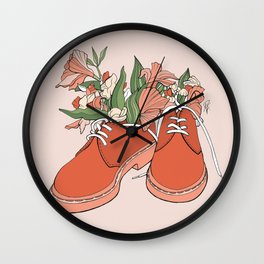 Spring In Your Step Wall Clock