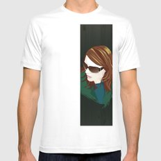 angiewood MEDIUM White Mens Fitted Tee