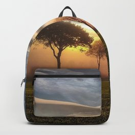 Big sky and clouds on a picture perfect night color photography - photographs Backpack