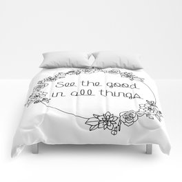 See the Good in All Things Quote Comforters
