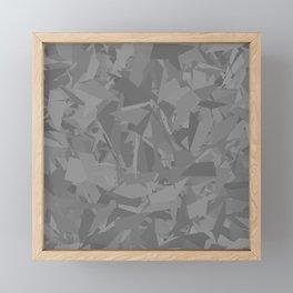 Gray camouflage Framed Mini Art Print