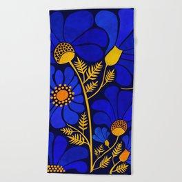 Wildflower Garden Beach Towel