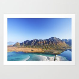 Hiking with a view Art Print