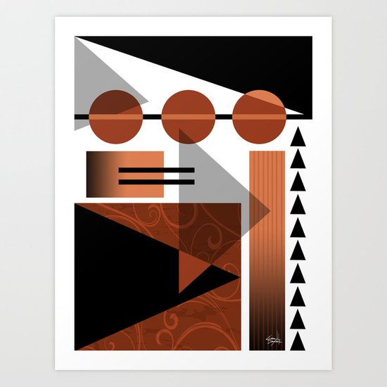 AZTEC DESERT   brown Art Print