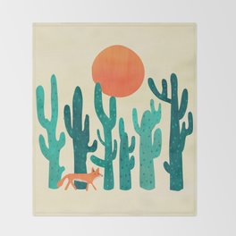 Desert fox Throw Blanket