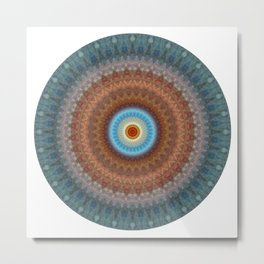 N-dimension projection # 1 (mandala) Metal Print