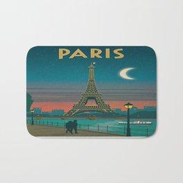 Vintage poster - Paris Bath Mat
