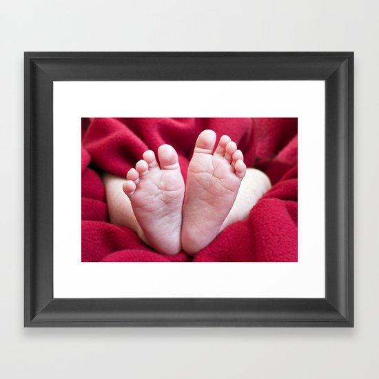 Baby Feet Framed Art Print