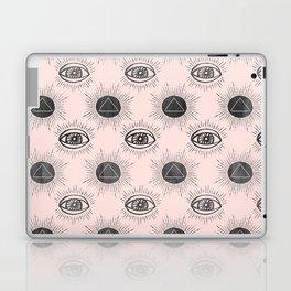 Eye of wisdom pattern- Pink & Black- Mix & Match with Simplicity of Life Laptop & iPad Skin