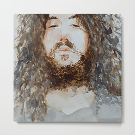 Hairy King Metal Print