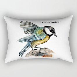 Parus Major Rectangular Pillow
