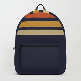 Vintage Retro Stripes Backpack