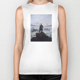Wanderer Above the Sea of Fog Biker Tank