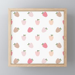 AFE Pastel Apples Framed Mini Art Print