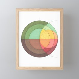Concentric Circles Forming Equal Areas Framed Mini Art Print