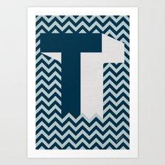 T. Art Print