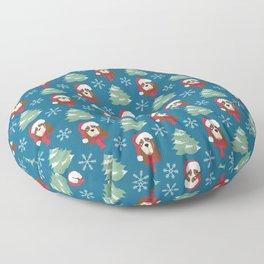 Basset Hound Christmas Dog Floor Pillow